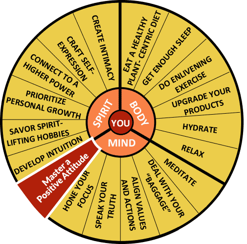 The Well-Being Wheel Graphic Spoke 12: Master a Positive Attitude: Here Comes the Sun
